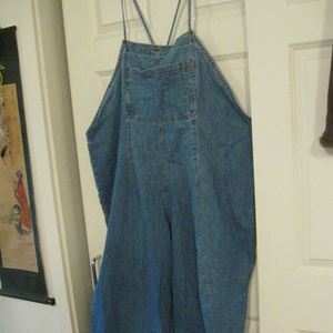 FORE WARNED FADED BLUE DENIM BIBSTYLE OVERAL SZ 24